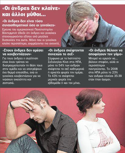 Αν και οι άνδρες προσπαθούν πολλές φορές να κρύψουν τα συναισθήματα λύπης που τους διακατέχουν σε έναν χωρισμό, τα ειδύλλια που τελειώνουν άδοξα τους κοστίζουν πιο πολύ απ΄ ό,τι στις γυναίκες